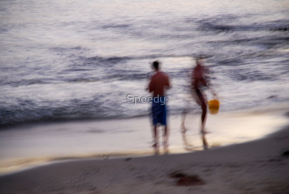 Blurred fishermen at dusk-lge by Speedy