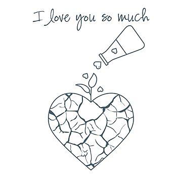Valentine's Day greeting card. Broken heart's hope by aquamarine-p