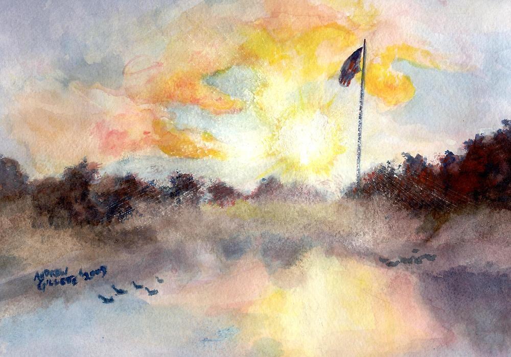 Solemn Procession- Sunrise at Ft. Logan by andrewgillette