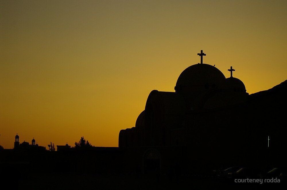Silhouetted Cross by courteney rodda