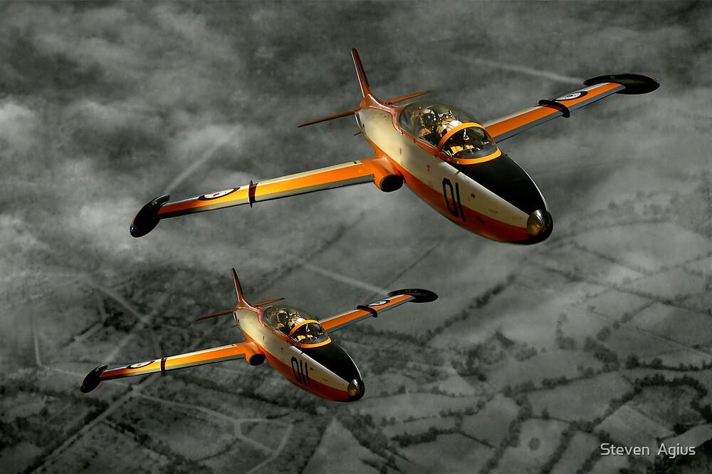 Aermacchi in Flight by Steven  Agius