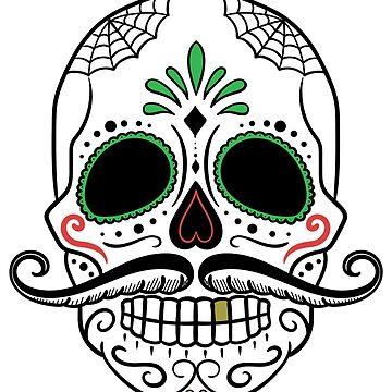 Skull Mustache Dead Skull by AbdelaaliKamoun