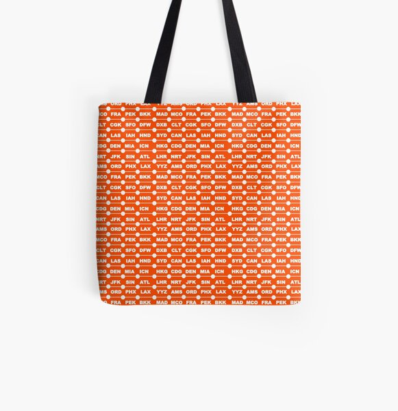 Airports orange All Over Print Tote Bag