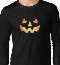 Halloween Pumpkin Face Long Sleeve T-Shirt