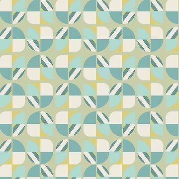 Vintage-Retro Pattern-Light Blue-Dark Blue by broadmeadow