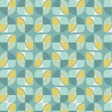 Vintage-Retro Pattern-Shades of blue green by broadmeadow