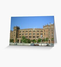 plaza de toros Greeting Card