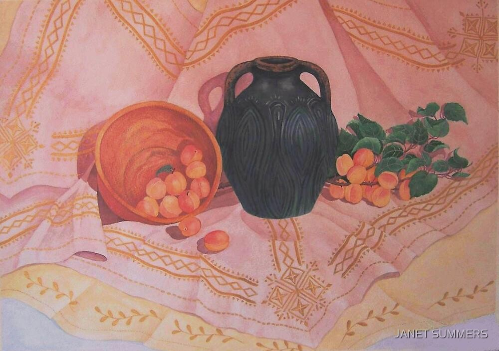 """"""" Copper, Bronze and Apricots"""" by JANET SUMMERS"""