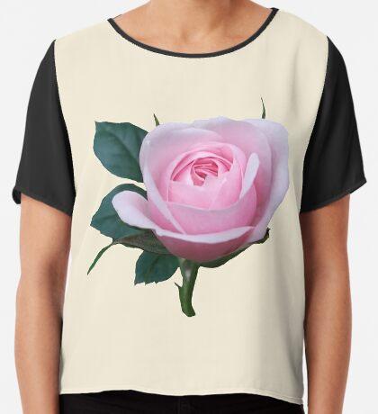 Königin der Blumen - eine zauberhafte pinke Rose, Rosen Chiffontop für Frauen