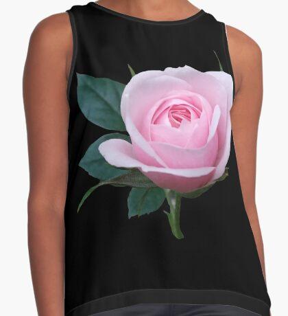Königin der Blumen - eine zauberhafte pinke Rose, Rosen Kontrast Top