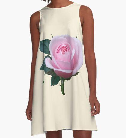 Königin der Blumen - eine zauberhafte pinke Rose, Rosen A-Linien Kleid