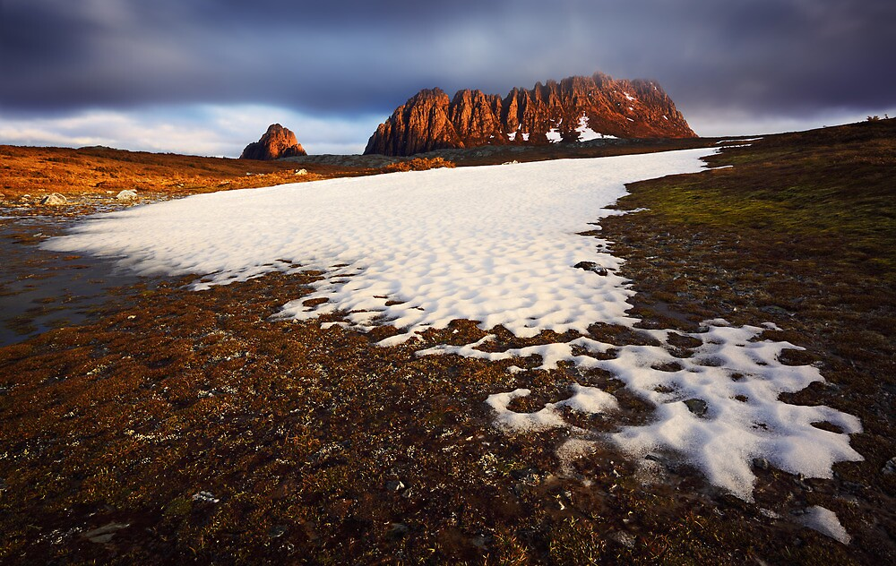 Snow melt on the Cradle Plateau #2 by Mark Shean