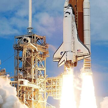 Space Shuttle, Discovery lifts off at the start of STS-120. by TOMSREDBUBBLE
