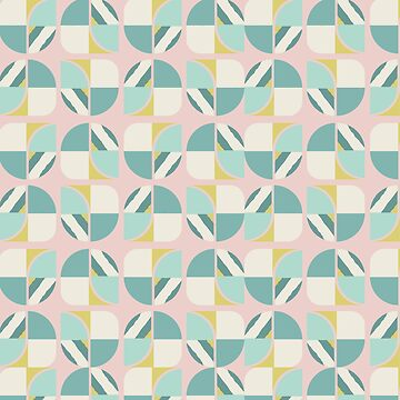 Vintage-Retro Pattern-Pink-White-Green by broadmeadow