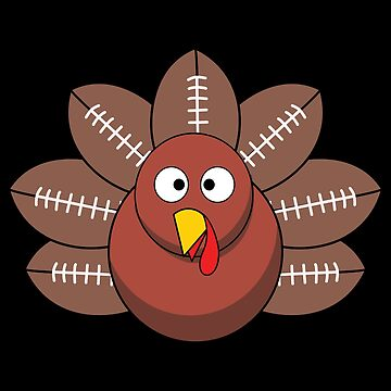 Thanksgiving Turkey Football Funny Apparel Gift by CustUmmMerch