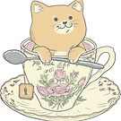 Tea Cat Time by ppmid