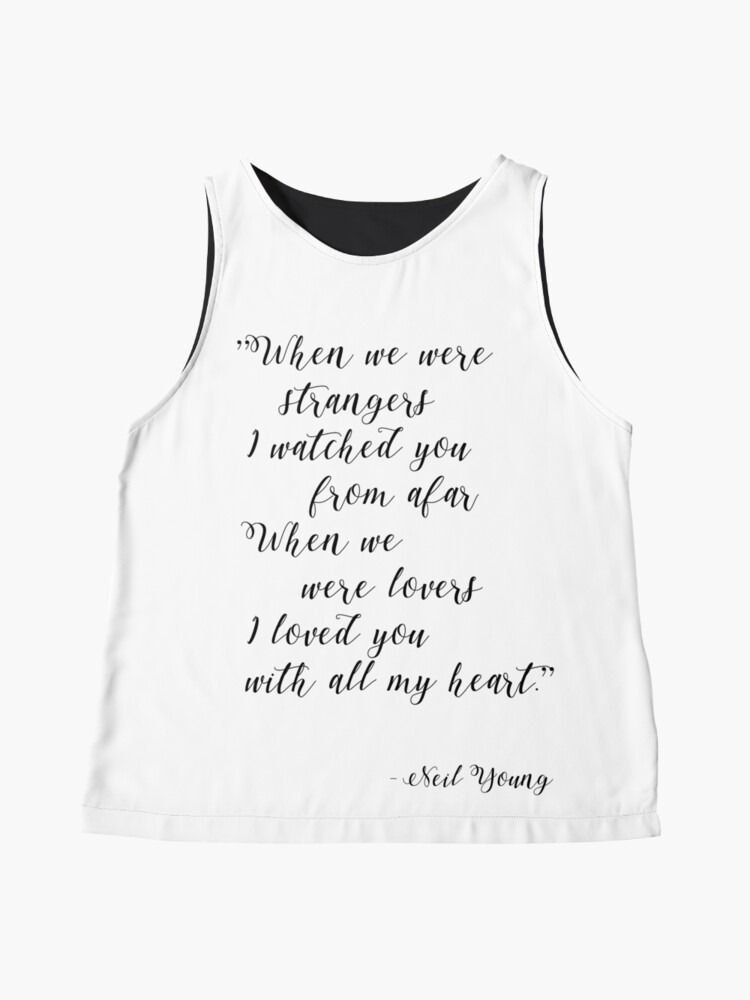 Alternate view of Neil Young Harvest Moon Lyric Print Sleeveless Top