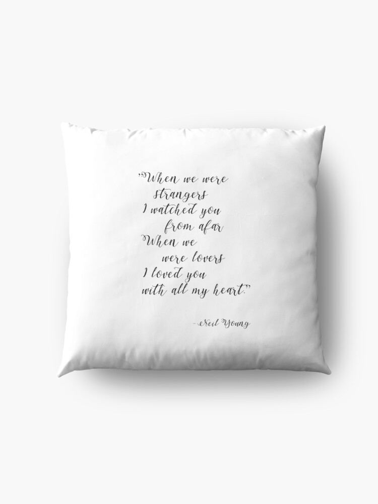 Alternate view of Neil Young Harvest Moon Lyric Print Floor Pillow