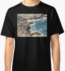 Maine Cove Seascape Watercolor Classic T-Shirt