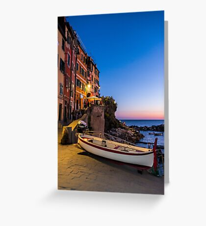 Sunset by the Seaside Greeting Card