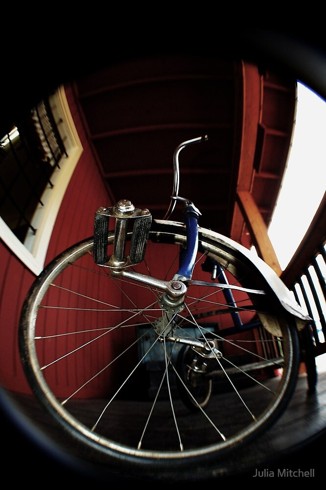 Fisheye, kids bike by Julia Mitchell