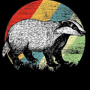 Badger animal by GeschenkIdee