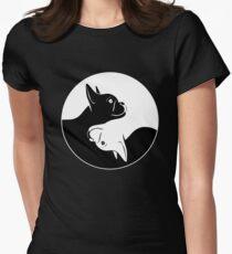 Yin Yang French Bulldog dog gift idea Women's Fitted T-Shirt