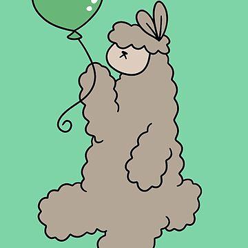 Green Balloon Alpaca by SaradaBoru