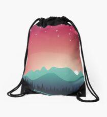 Mountain landscape Drawstring Bag