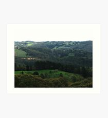 Rolling Green Hills Art Print