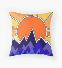Color Sunset Floor Pillow