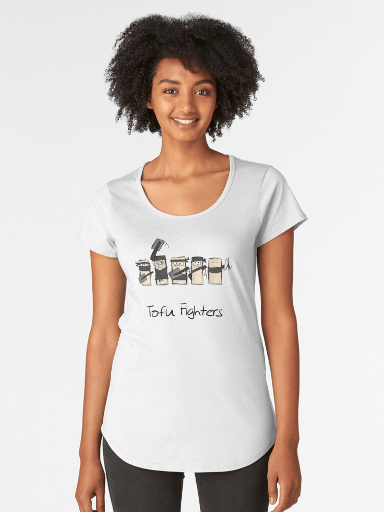 Tofu Fighters Funny Design for Tofu Lovers and Vegans Women's Premium T-Shirt Front