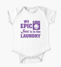 My epic set is in the laundry One Piece - Short Sleeve