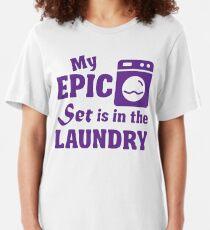 Camiseta ajustada Mi conjunto épico está en la lavandería