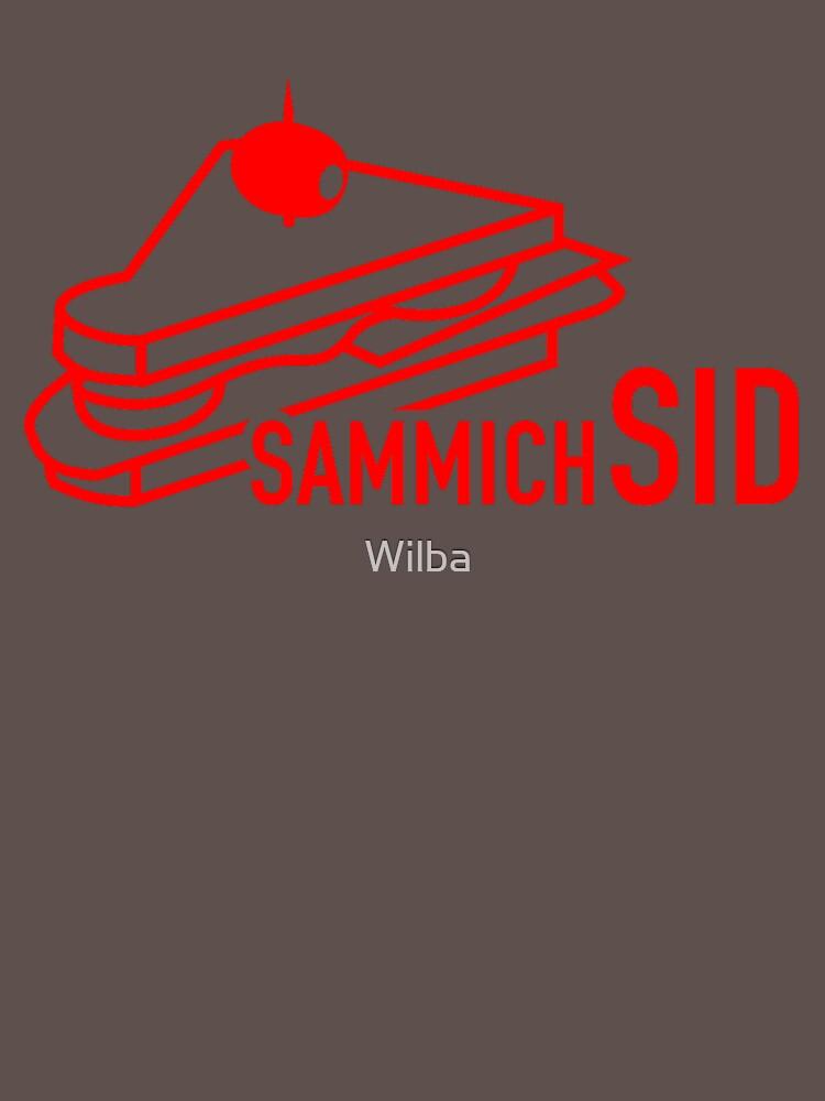 sammichSID (red print) by Wilba