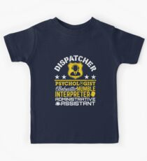 Police Dispatcher Unofficial Roles Kids Tee