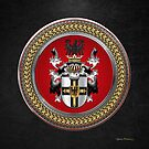 Teutonic Order - Coat of Arms Special Edition over Black Leather by Serge Averbukh