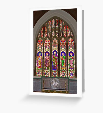 Window #2 East Witton Church Greeting Card