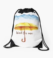 """Yellow umbrella HIMYM - """"How I met your mother"""" graphic Drawstring Bag"""