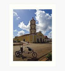 Iglesia Mayor de San Juan Bautista Art Print