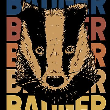 Badger animal by GeschenkIdee