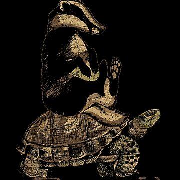 Badger turtle by GeschenkIdee