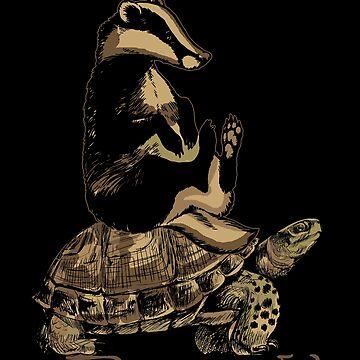 Turtle badger by GeschenkIdee