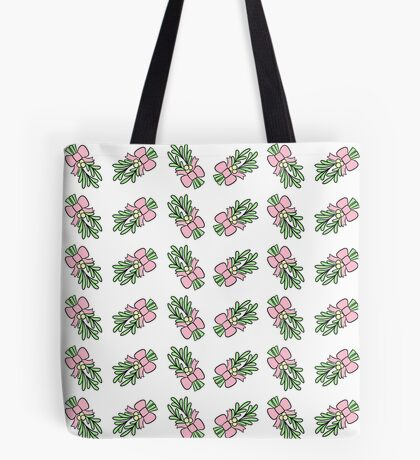 Pastel Mistletoe Tote Bag