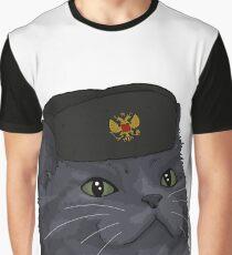 Russisch Blau Grafik T-Shirt