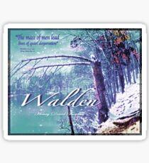 Thoreau Walden Pond Sticker