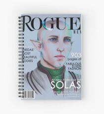 Solas vogue coverboy Spiral Notebook