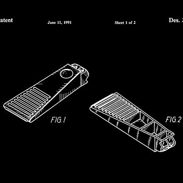 Lego Brick Separator Patent (White Vs) by mecanolego