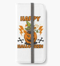 Happy Halloween Pug iPhone Flip-Case/Hülle/Skin
