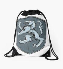 Medieval Wolf Coat of Arms Shield Sigil  Drawstring Bag